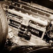 1924 Hispano-suiza H6b Dual  Cowl Sport Phaeton Engine Emblem -0258s Poster
