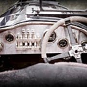 1925 Aston Martin 16 Valve Twin Cam Grand Prix Steering Wheel -0790ac Poster