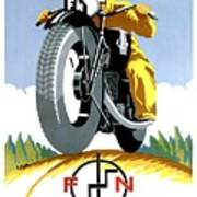 1925 Fn Motorcycles Advertising Poster Poster