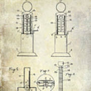 1926 Toy Filling Station Patent Poster