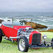 1927 Ford T Bucket Roadster 'on The Greens' Poster