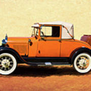 1928 Classic Ford Model A Roadster Poster