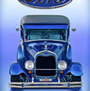1928 Ford Tudor Sedan 'head On' Poster