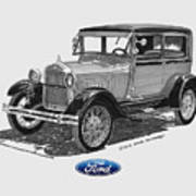 1928 Model A Ford 2 Dr Sedan Poster by Jack Pumphrey