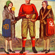 1929 Notre Dame Versus Southerncal Poster