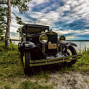 1930 Chevy On The Shore Of Higgins Lake Poster
