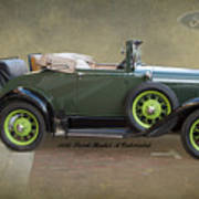 1930 Model A Ford Cabriolet Poster