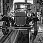 1930 Model T Ford Monochrome Poster