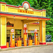 1930s Shell Gas Station Poster