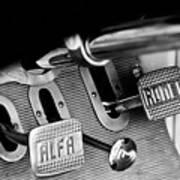 1931 Alfa Romeo 6c 1750 Gran Sport Aprile Spider Corsa Pedals -3689bw Poster