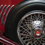 1931 Duesenberg Model J Spare Tire Poster