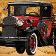 1931 Ford Model A Fire Truck Poster
