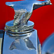 1931 Ford Model A Quail Hood Ornament Poster