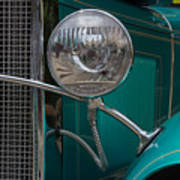 1931 Teal Chevy Hot Rod Headlight Poster