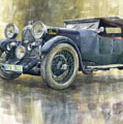 1932 Lagonda Low Chassis 2 Litre Supercharged Front Poster