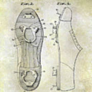 1932 Baseball Cleat Patent Poster