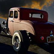 1932 Ford Five Window Coupe 'leaving Town' Poster