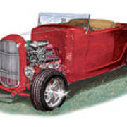 1932 Ford Hi-boy Hot Rod Poster