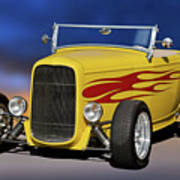 1932 Ford Roadster 'hiboy' Poster