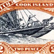 1932 Niue Island Stamp Poster
