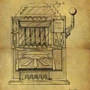 1932 Slot Machine Patent Poster