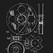 1933 Film Reel Patent Poster