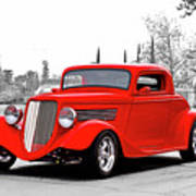 1933 Ford 'three Window' Coupe I Poster