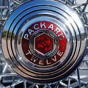 1933 Packard 12 Wheel Poster
