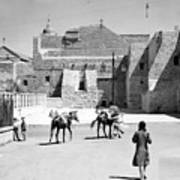 1934 And 1939 Bethlehem Nativity Church  Poster