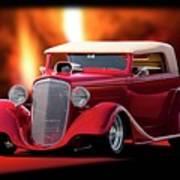 1934 Chevrolet Phaeton Convertible Poster