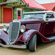 1934 Ford Roadster Hot Rod Poster