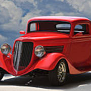1934 Ford 'sherrys Cherry' Coupe Poster