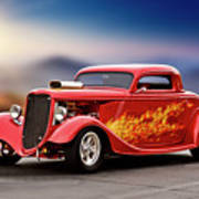 1934 Ford 'three Window' Coupe I Poster
