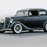 1934 Ford 'victoria' Coupe Poster