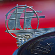 1934 Plymouth Hood Ornament 2 Poster
