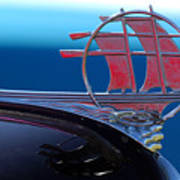 1934 Plymouth Hood Ornament Poster