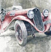 1934 Walter Standart S Jindrih Knapp 1000 Mil Ceskoslovenskych Winner  Poster