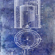 1935 Beer Equipment Patent Blue Poster