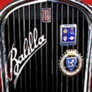 1935 Fiat Balilla Sport Spider Grille Poster