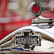 1936 American Lafrance Fire Truck Hood Ornament Poster by Jill Reger