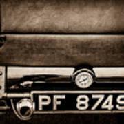 1936 Bugatti Type 57s Corsica Tourer License Plate -0067s Poster