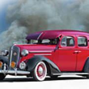 1936 Chevrolet Master Deluxe Sedan Poster