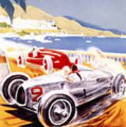 1936 F1 Monaco Grand Prix  Poster by Georgia Fowler