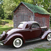1936 Ford 3-window Poster