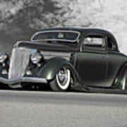 1936 Ford 'bug Crusher' Coupe Poster