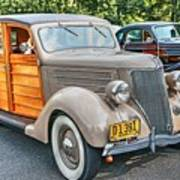 1936 Ford V8 Woody Station Wagon Poster