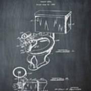 1936 Toilet Bowl Patent Chalk Poster