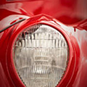 1937 Ford Headlight Detail Poster
