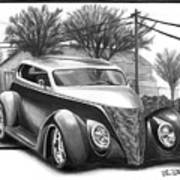 1937 Ford Sedan Poster by Peter Piatt
