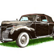 1937 Lincoln Zephyer Poster